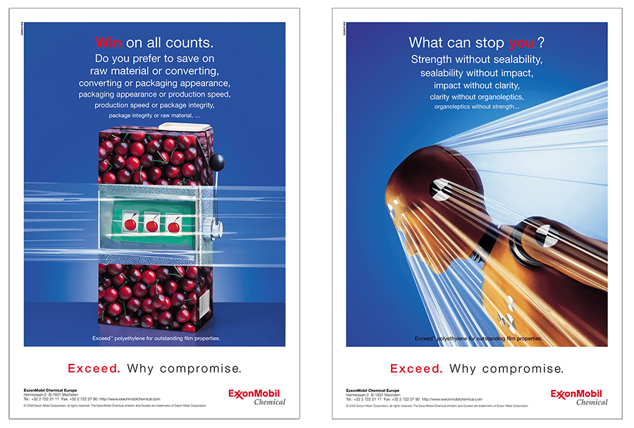 Exxon Mobil Chemical-Press-Equation advertising Brussels