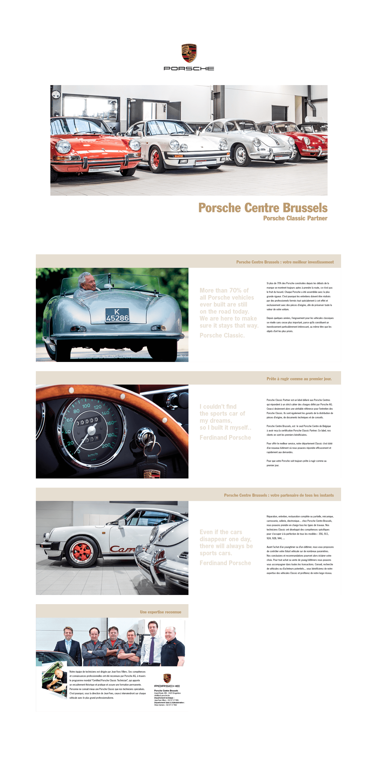 Porsche centre brussels-brochure classic-Equation advertising Brussels