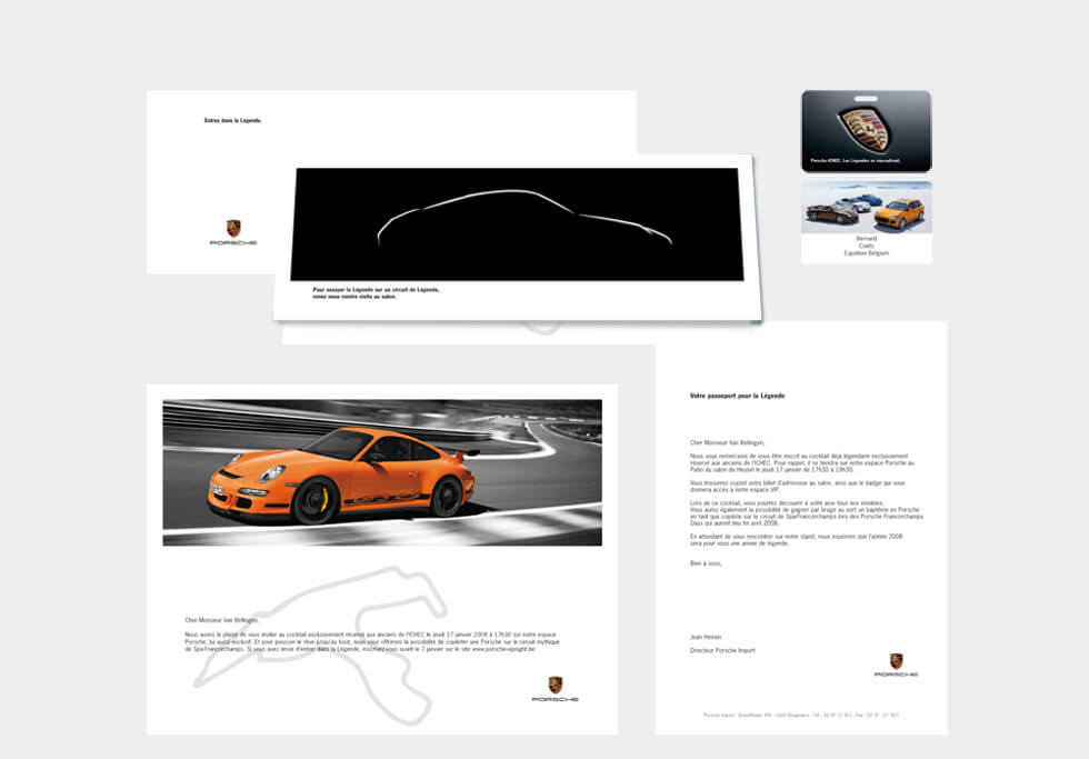 Porsche-mailing-Equation advertising Brussels